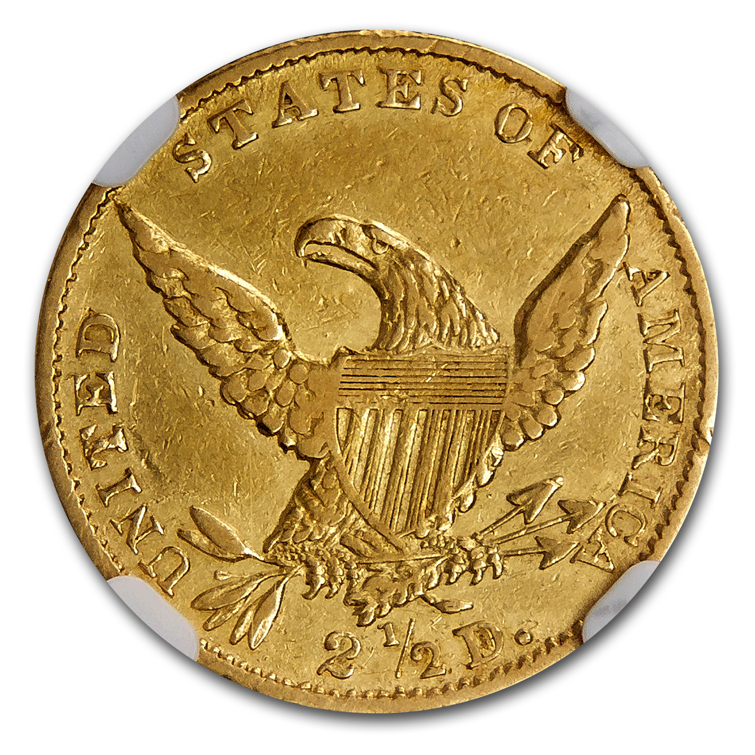 1834 $2.50 Gold Classic Head - Almost Uncirculated-53 NGC